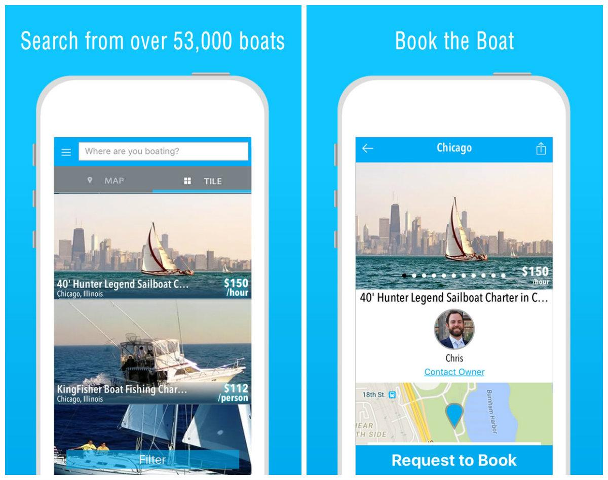 The sharing economy depends on smartphone apps that simplify rides, hotel rentals and now boat rentals. (Courtesy of GetMyBoat)