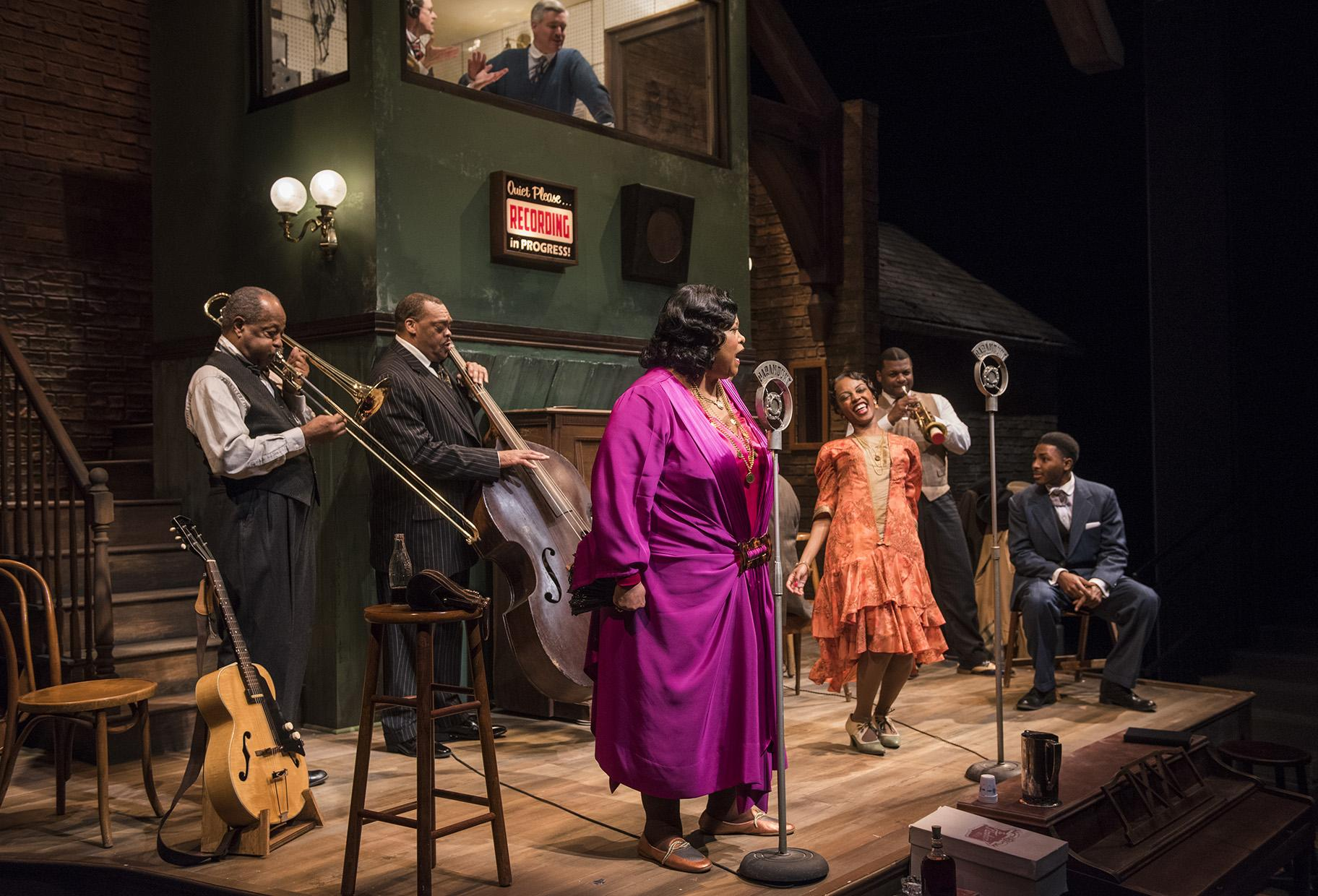 "The cast of ""Ma Rainey's Black Bottom"" (Photo credit: Michael Brosilow)"