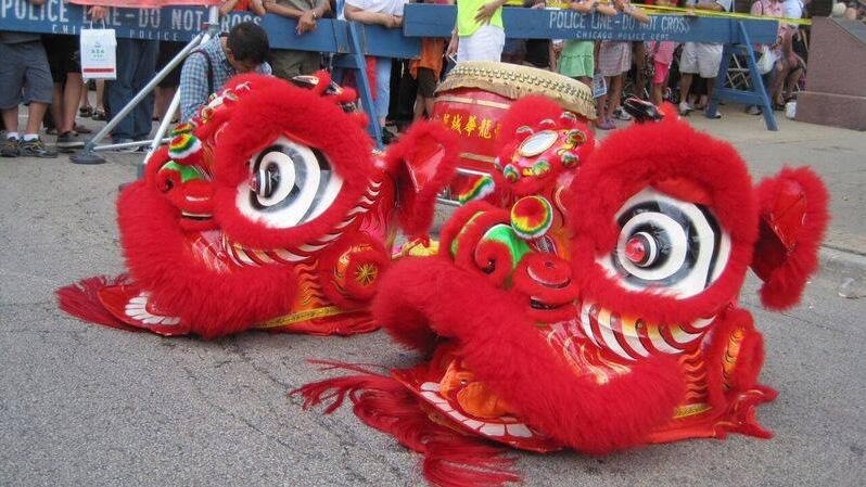 A lion dance procession highlights this weekend's fair. (Special Events Management / Facebook)