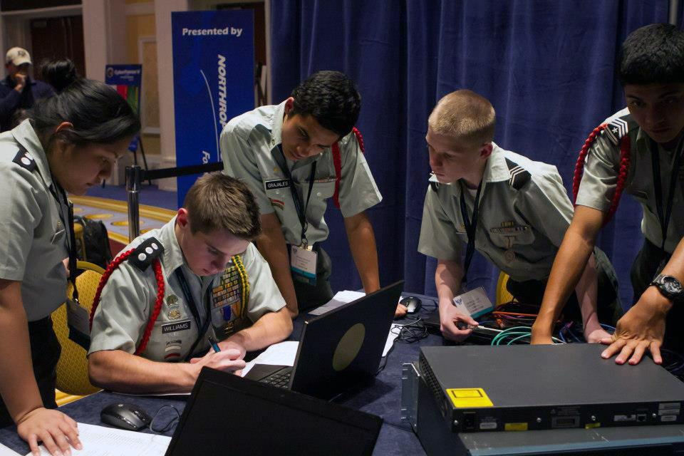 CyberPatriot competitions are one of the ways the U.S. seeks to attract students to careers in cybersecurity. (U.S. Air Force)
