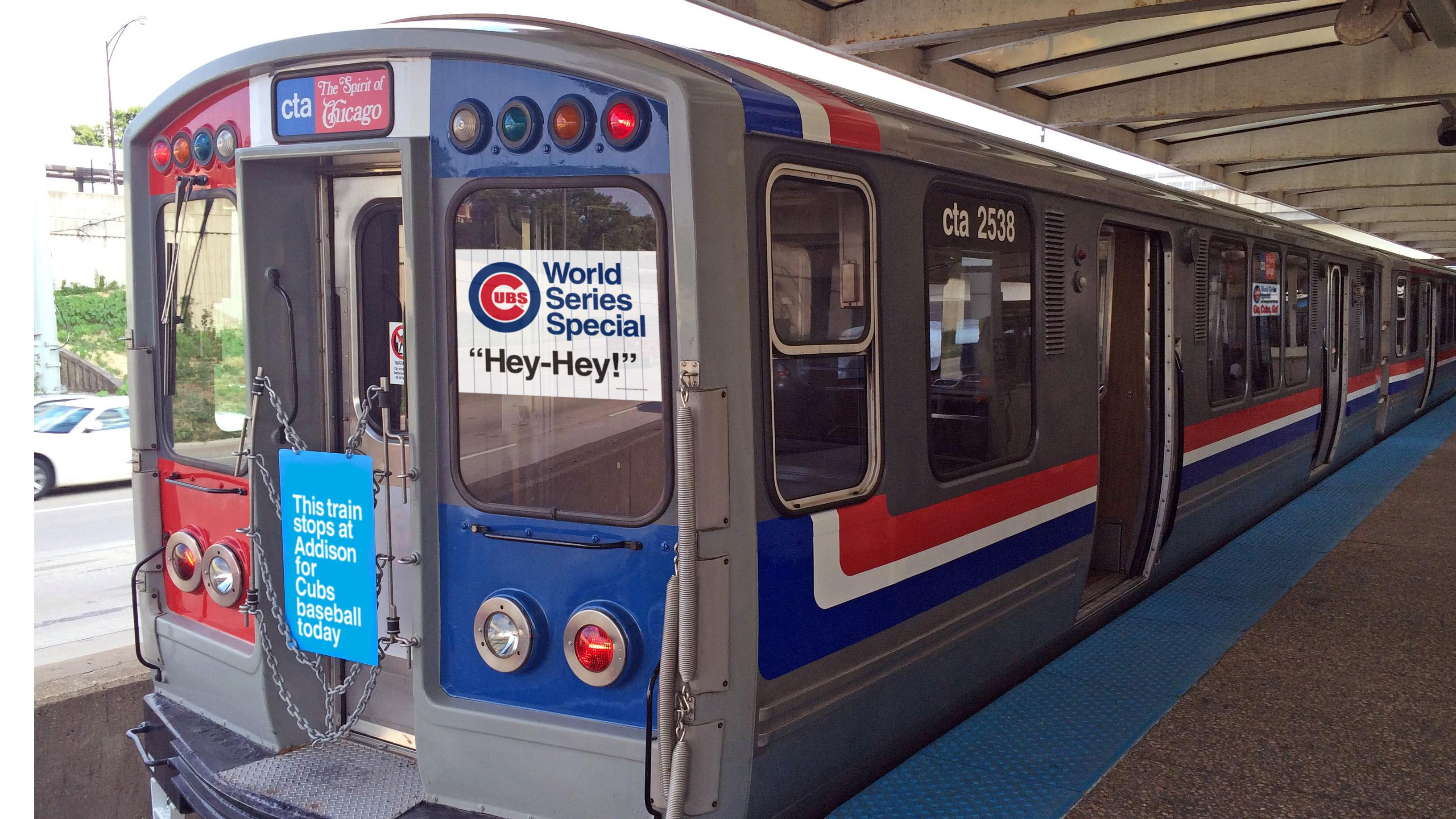 As part of its Heritage fleet program, the CTA will be operating its refurbished rail cars on the Red Line before the Cubs' World Series home games this weekend. (Courtesy of Chicago Transit Authority)