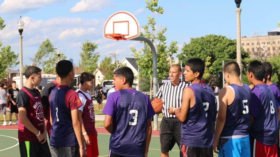 Hoops in the Hood aims to reclaim city parks and streets through basketball. (Courtesy of Jackie Covarrubias)