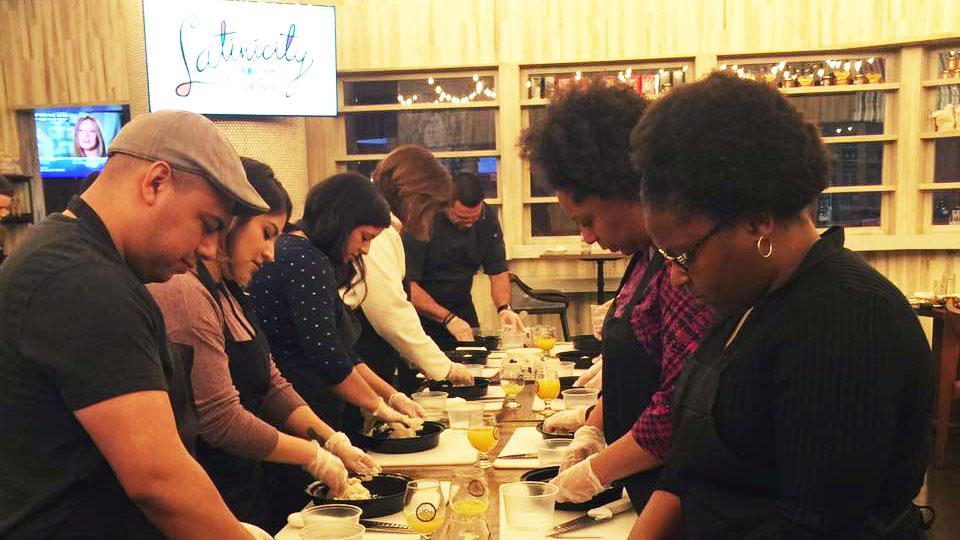 Latinicity hosts its monthly cooking class. (Courtesy of Latinicity)