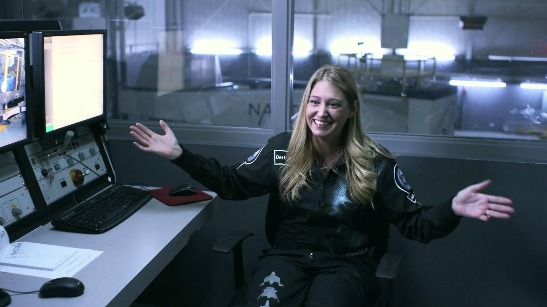 Former NASA engineer Beth Moses is chief astronaut instructor at Virgin Galactic, the world's first commercial spaceline. (YouTube / Virgin Galactic)
