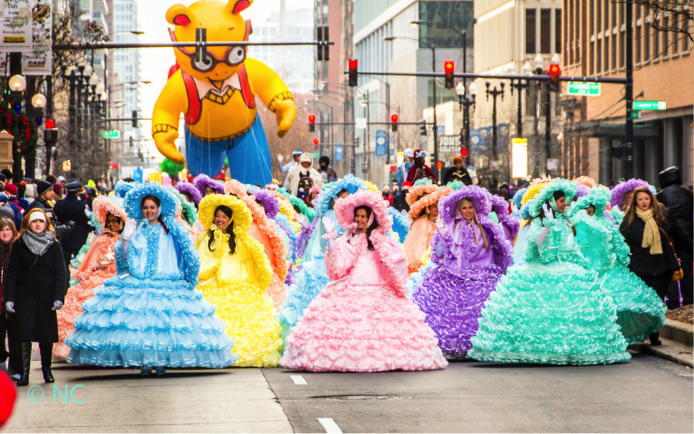 Watch the Mobile Azalea Trail Maids float along State Street at this year's parade. (Courtesy of Chicago Festival Association)