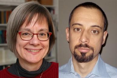 UIC professors Kathryn Nagy, left, and Danny Morales-Doyle are heading a project that received a National Science Foundation grant to educate high school students and their teachers about urban pollution. (Courtesy of UIC)