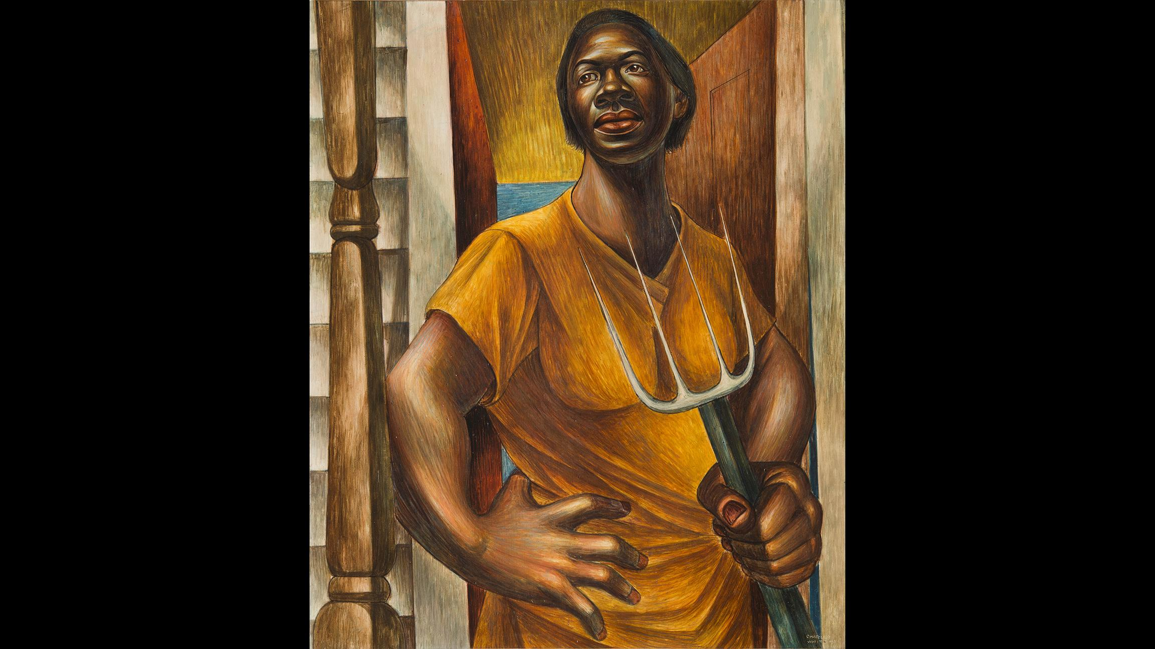 "Charles White. ""Our Land,"" 1951. Private Colllection. (© The Charles White Archives Inc.)"