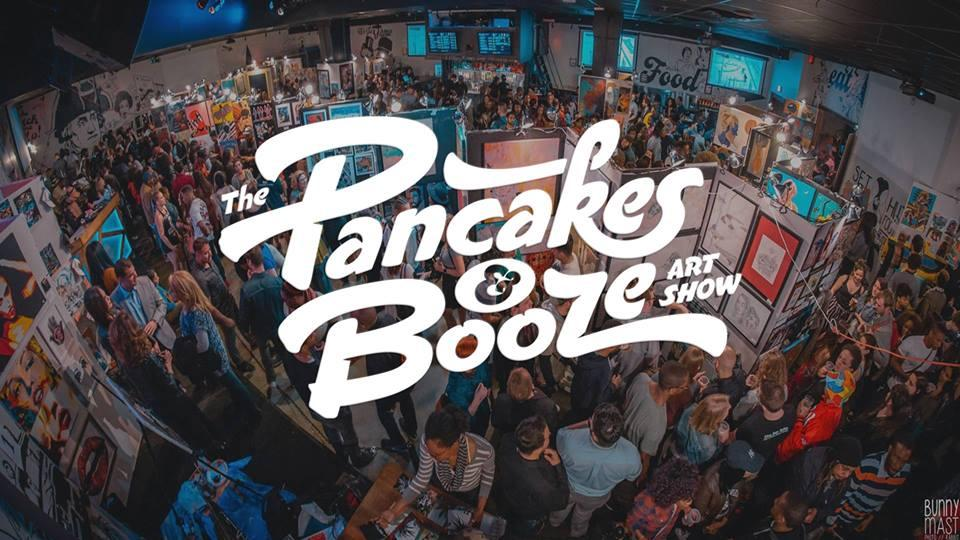 The Pancake & Booze Art Show features artwork from more than 80 artists. (Courtesy of Facebook)