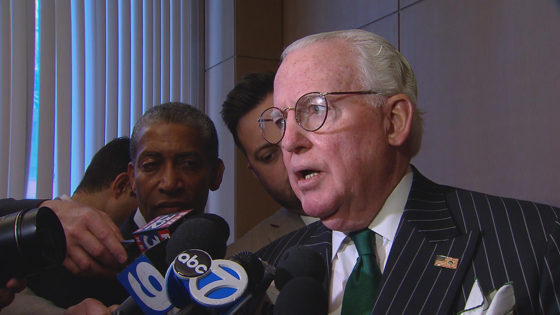 "Ald. Ed Burke (14th Ward): ""We're the best and the busiest air hub in the nation, and people who are flying out of Chicago, whether it's O'Hare or Midway, shouldn't be subjected to the kind of hardships that they are today, because of the ineptitude of the TSA."""
