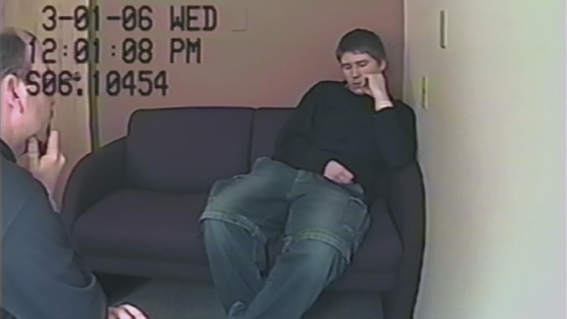 "Footage from the interrogation of Brendan Dassey, as seen in ""Making a Murderer."" (Courtesy of Netflix)"