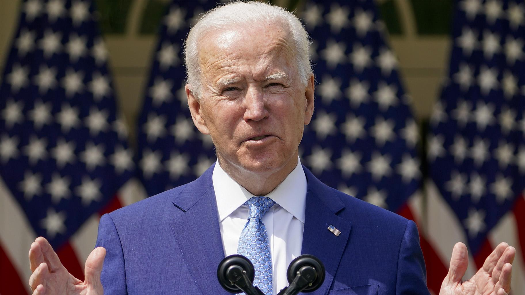 Biden released a wish list for the federal budget on Friday, asking for an 8.4% increase in agency operating budgets with substantial gains for Democratic priorities like education, health care, housing and environmental protection. (AP Photo / Andrew Harnik, File)
