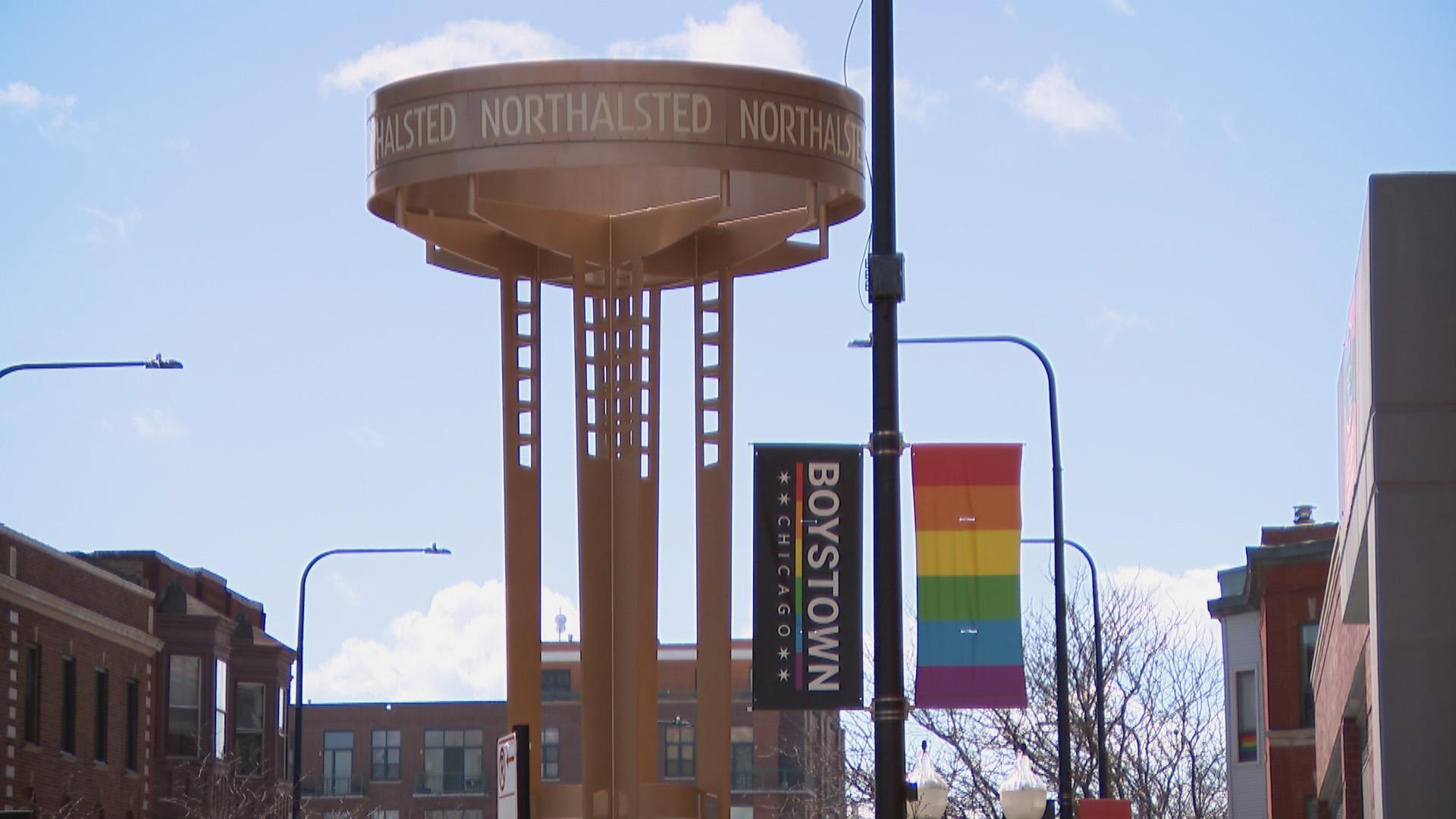 The Lakeview neighborhood known as Boystown. (WTTW News)