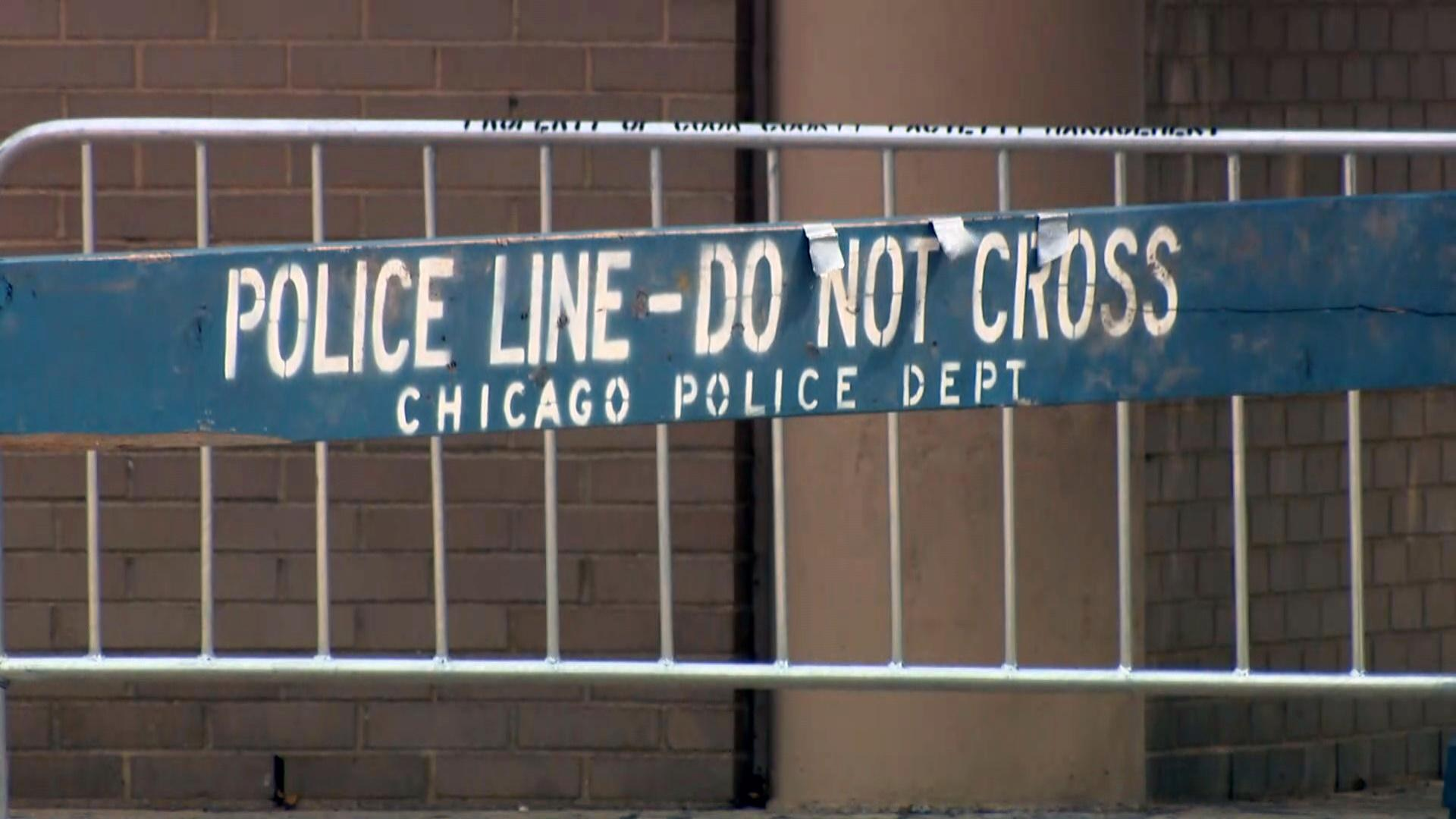 A file photo shows a crime scene blocked off by the Chicago Police Department. (WTTW News)