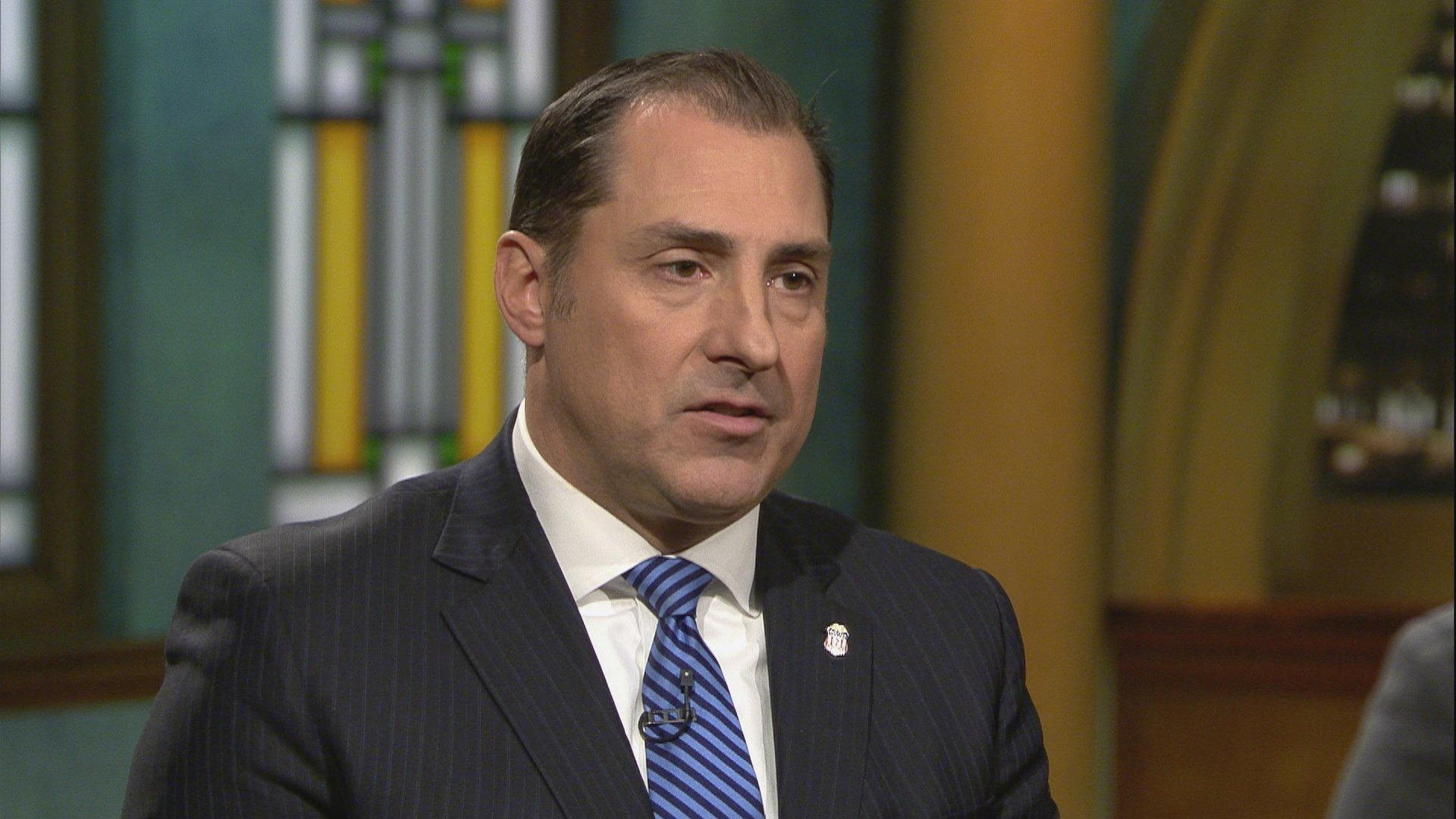 "U.S. Attorney John Lausch appears on ""Chicago Tonight"" on Nov. 13, 2019. (WTTW News)"