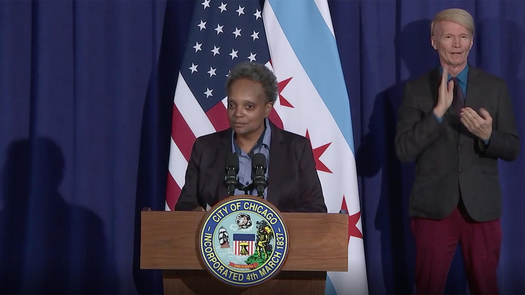 Lightfoot Celebrates Win By Biden Harris Has A Nice Ring To It Doesn T It Chicago News Wttw