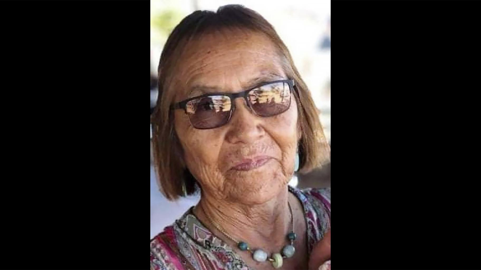 In this undated photo provided by her niece Seraphine Warren, Navajo carpet weaver Ella Mae Begay, 62, is shown.  Begay is one of thousands of missing Indigenous women in the United States (AP Photo)