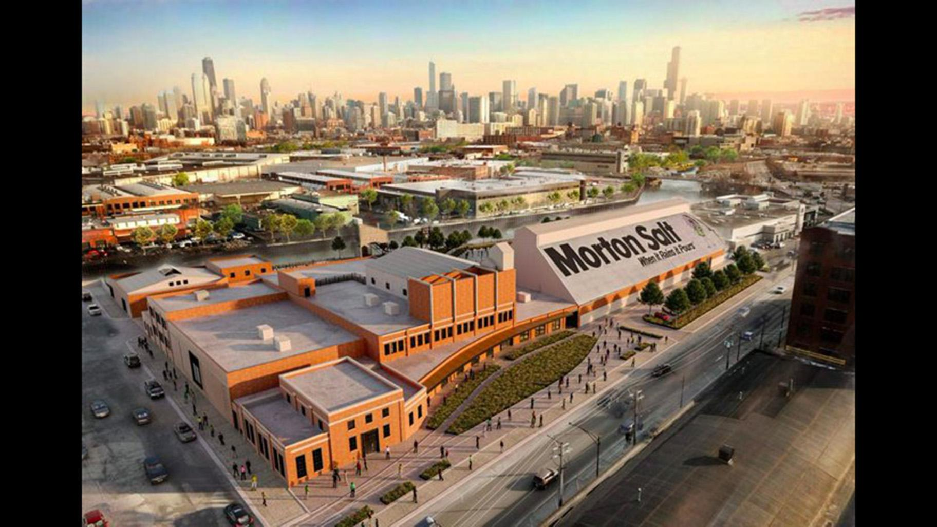 A proposed rendering of a renovated Morton Salt building. (Credit: Chicago Department of Planning and Development)