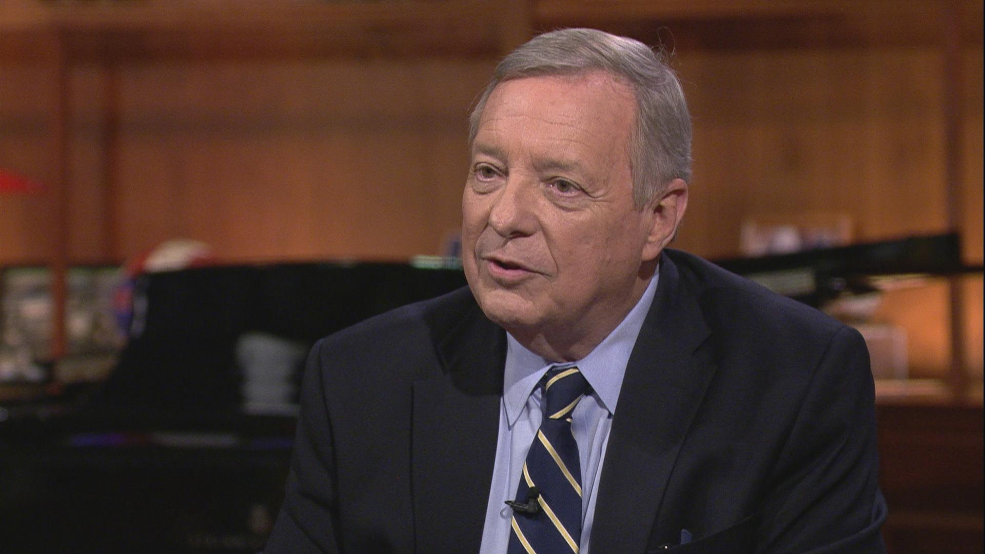 "U.S. Sen. Dick Durbin appears on ""Chicago Tonight"" on Sept. 30, 2019."