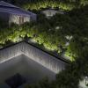 Aerial view of memorial at night. Image Credit: Squared Design Lab