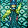 "Ed Paschke, Cobmaster, 1975, oil on canvas, 74"" x 50"""
