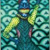 """Ed Paschke, Cobmaster, 1975, oil on canvas, 74"""" x 50"""""""
