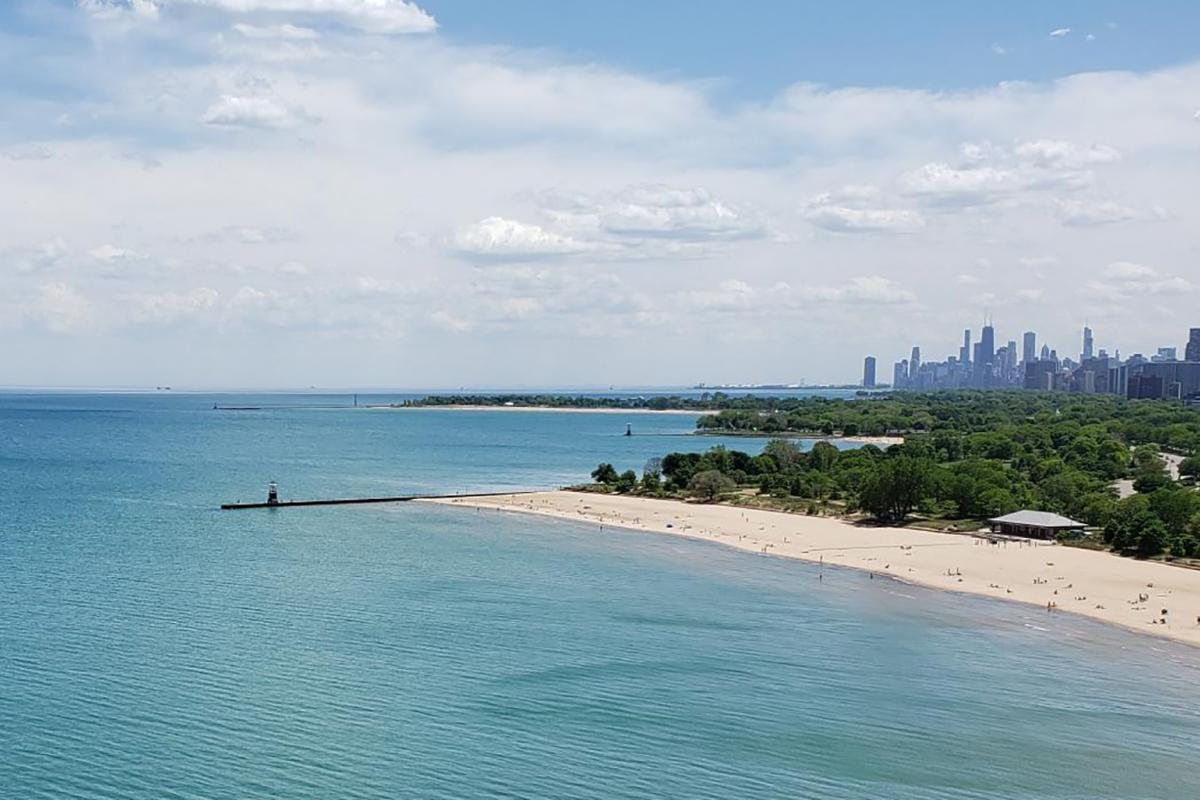 Lane Beach is five-star worthy. (Alexandra Silets / WTTW News)