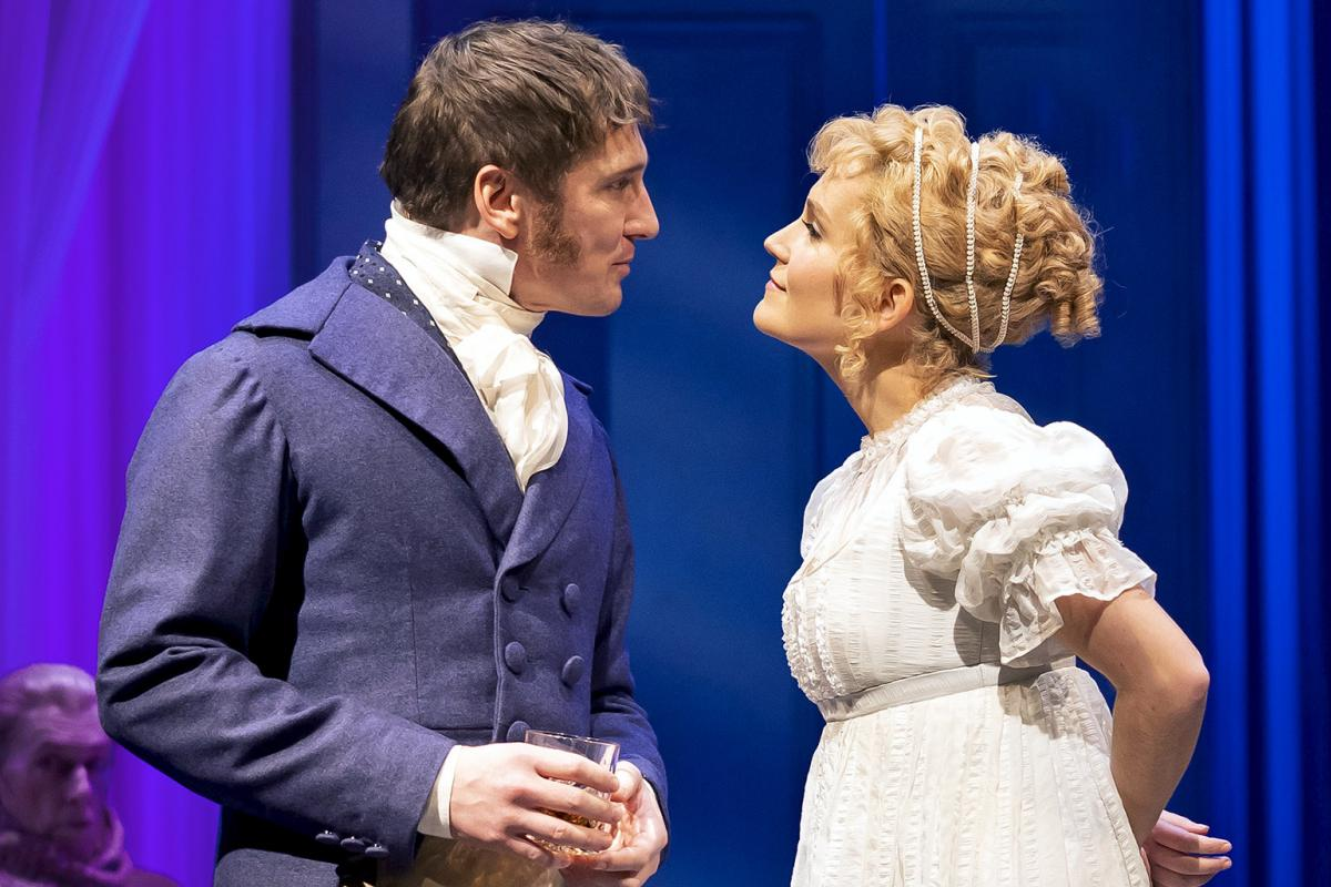 """Lora Lee Gayer and Brad Standley in Chicago Shakespeare Theater's production of """"Emma."""" (Photo by Liz Lauren)"""