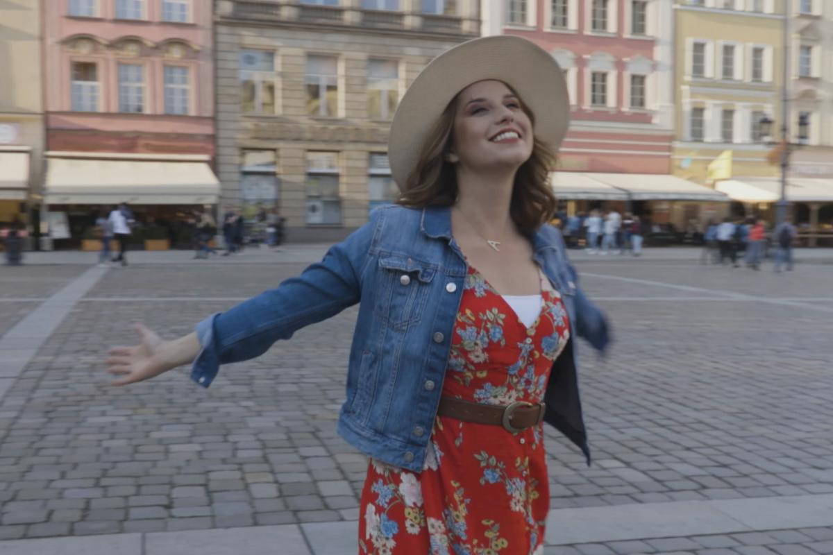 "A still image of Aleksandra August from her new series ""Flavor of Poland."" (Courtesy of American Public Media)"