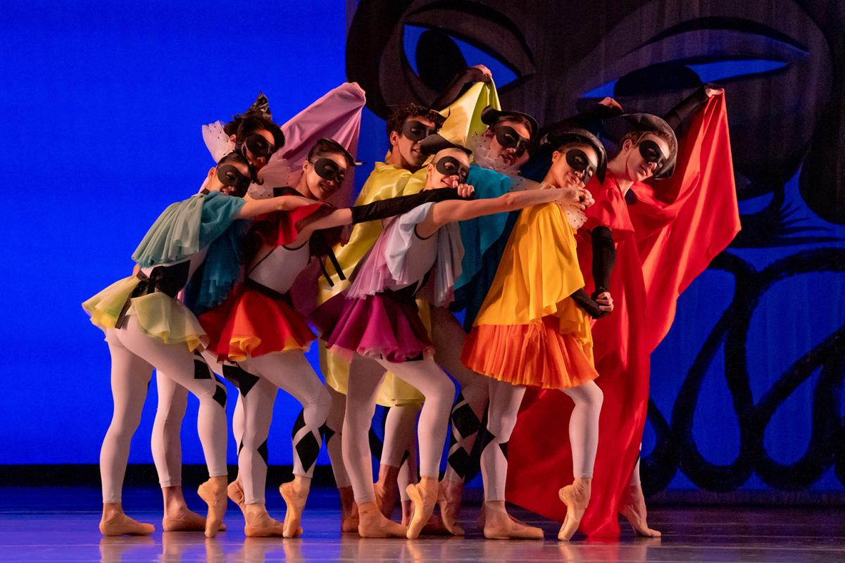 "Joffrey Ballet artists in ""Commedia."" (Photo by Cheryl Mann)"