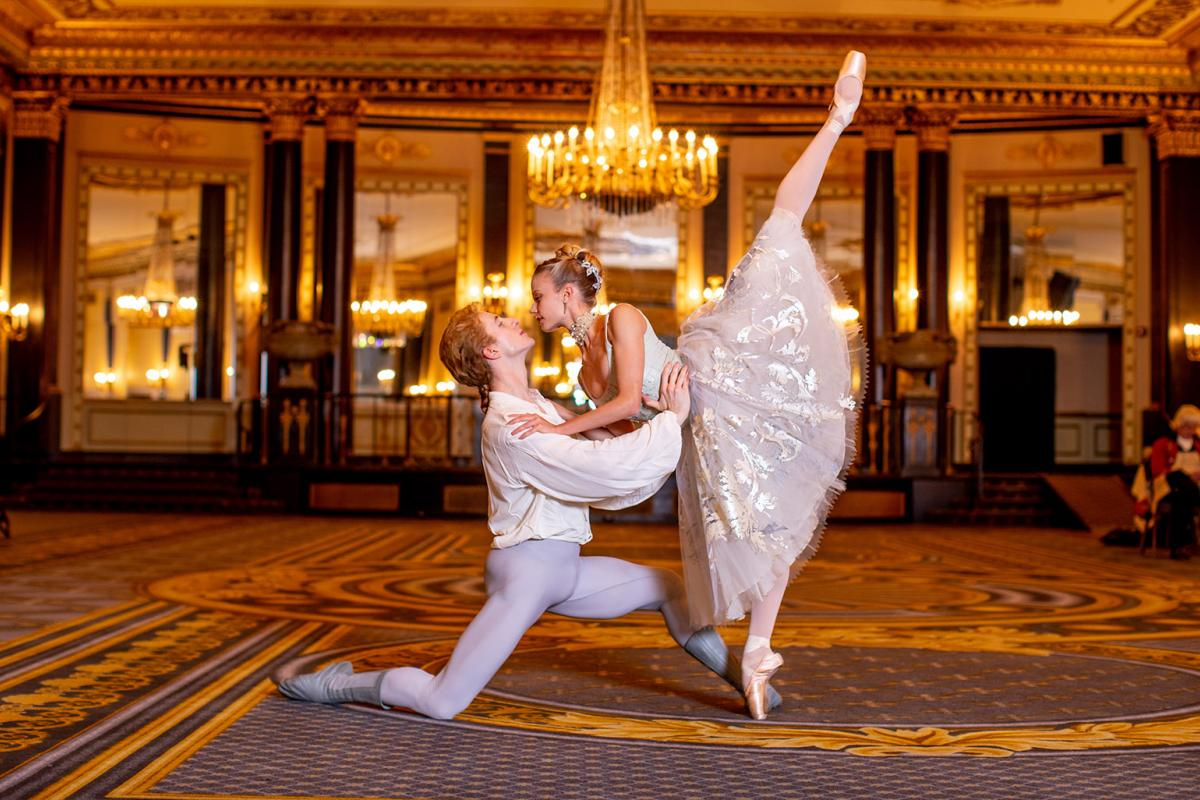Joffrey Ballet artists Stefan Goncalvez and Brooke Linford. (Photo by Cheryl Mann)
