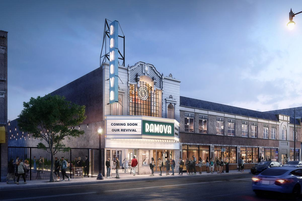 A rendering of the proposed renovation of the Remova Theatre in Bridgeport. (Credit O'Riley Office LLC)