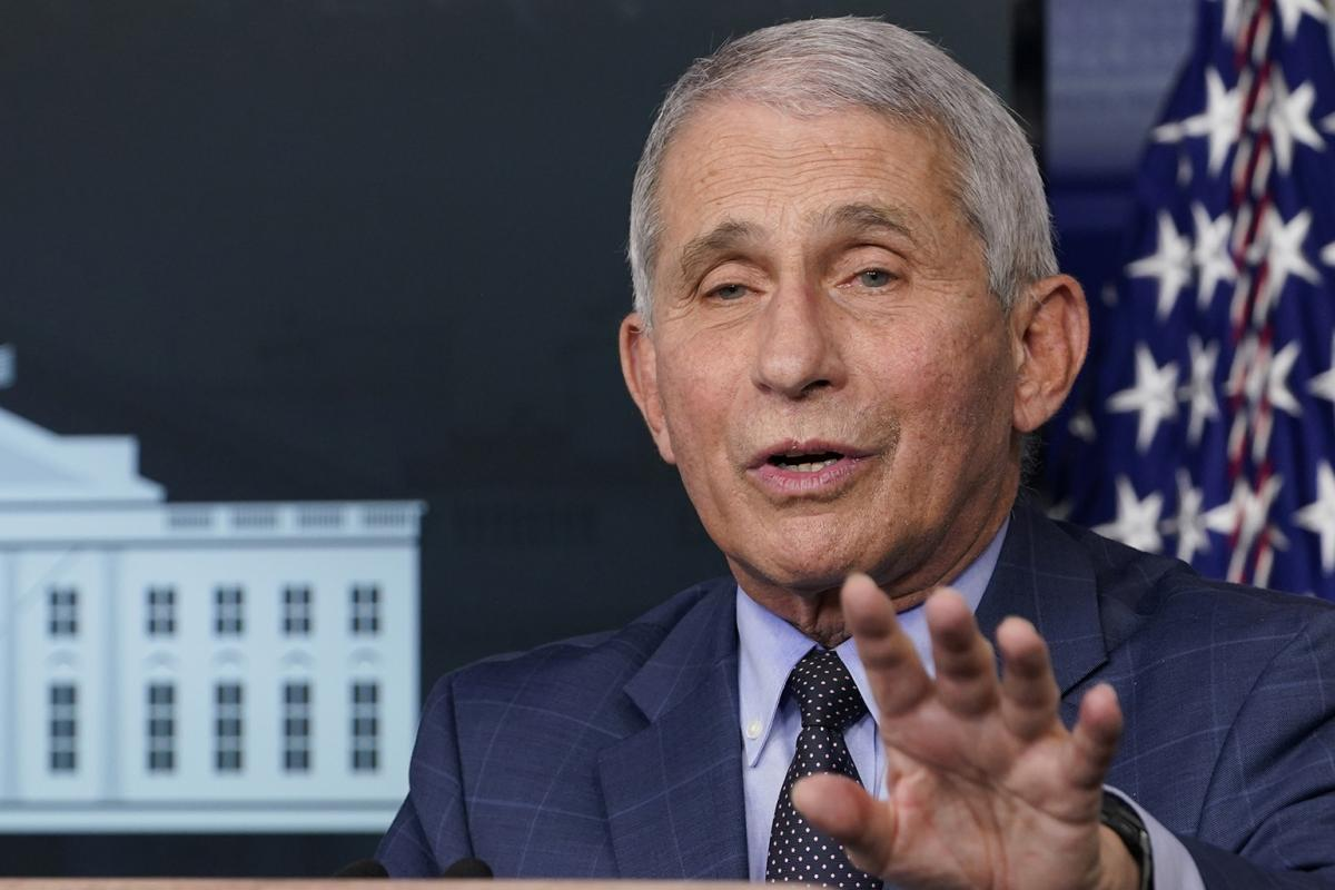 Dr. Anthony Fauci, director of the National Institute for Allergy and Infectious Diseases, speaks during a news conference with the coronavirus task force at the White House in Washington, Thursday, Nov. 19, 2020. (AP Photo / Susan Walsh)