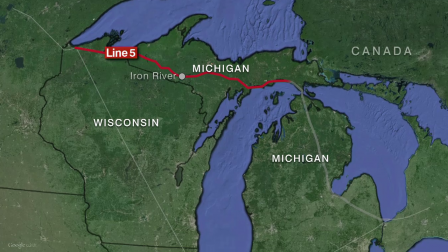 Pipeline number five is owned by Enbridge Energy.