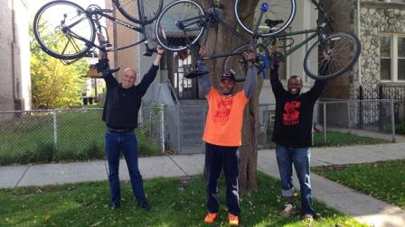 Slow Roll Chicago founders with Jay Shefsky.