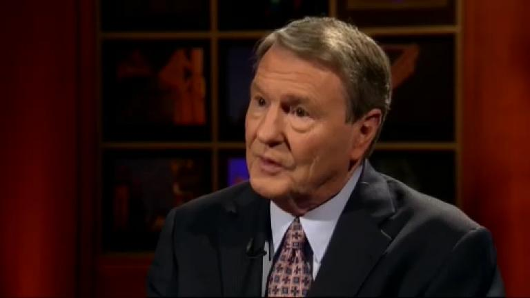 "Jim Lehrer appears on ""Chicago Tonight"" on April 26, 2010. (WTTW News)"