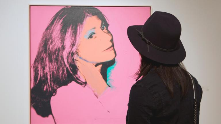 """Andy Warhol's """"Dorothy Lichtenstein,"""" 1974, Richard Gray Gallery. (Photo by Paul Audia)"""