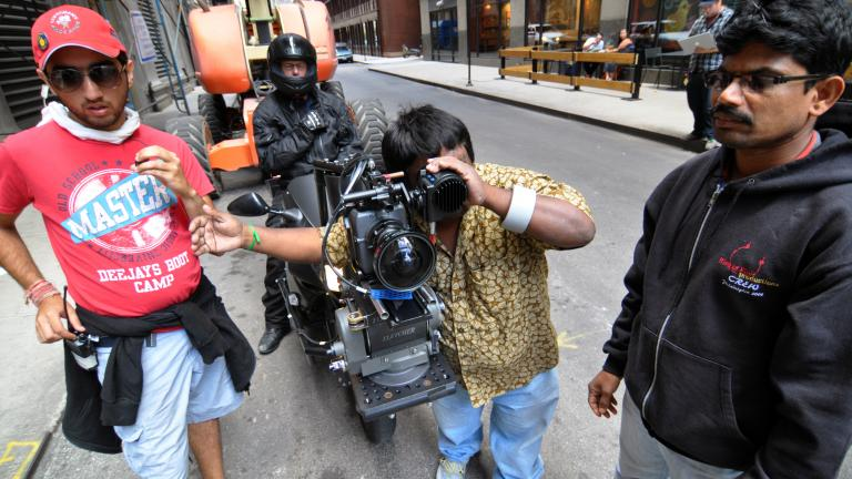 """The crew on """"Dhoom 3"""" is a mix of locals and Indians. About 60% of the crew came from India."""