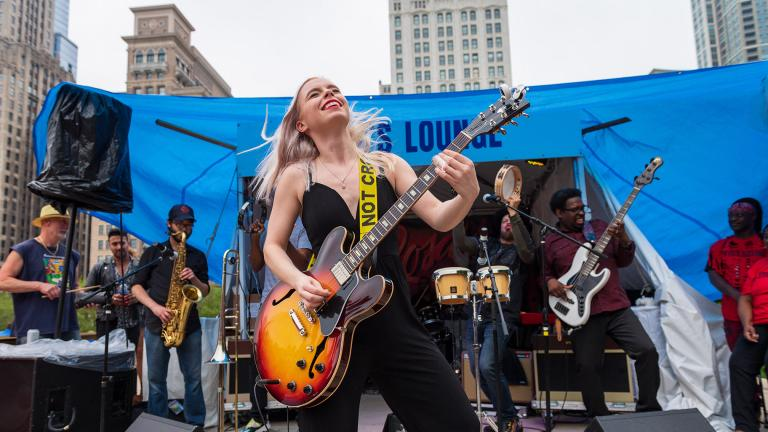 A new citywide music festival in 2021 will replace the Blues Fest, pictured, Jazz Fest and Gospel Fest with one night honoring each music tradition. (Courtesy Department of Cultural Affairs and Special Events)