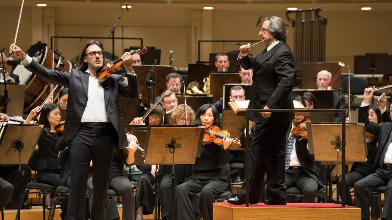 The Chicago Symphony Orchestra conducted by Maestro Riccardo Muti performs with violin soloist Leonidas Kavakos. ©2019 Anne Ryan