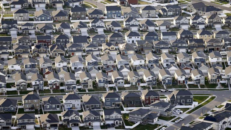 Rows of homes are shown in suburban Salt Lake City on April 13, 2019 (AP Photo / Rick Bowmer, File)