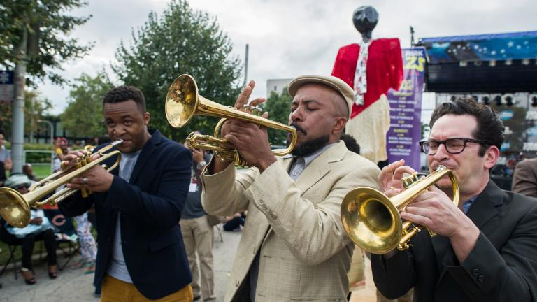 Sound the horns: The 10th annual Hyde Park Jazz Festival returns to the neighborhood this weekend. (Marc Monaghan / Flickr)
