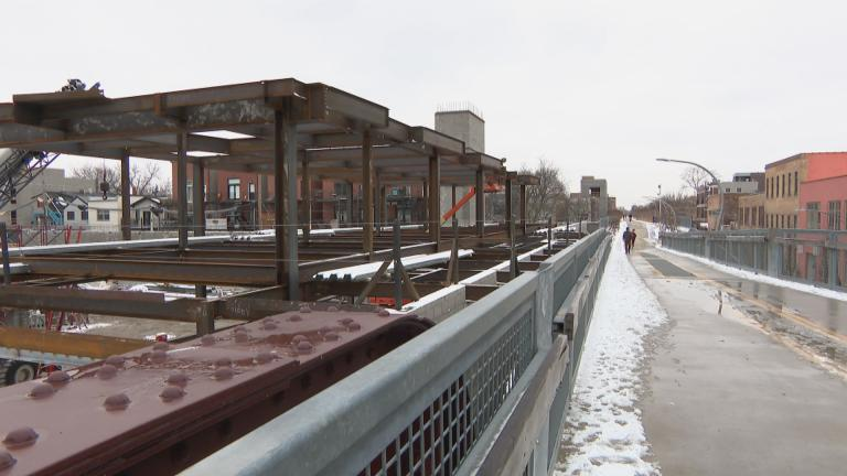 Chicago's popular 606 elevated trail. (WTTW News)