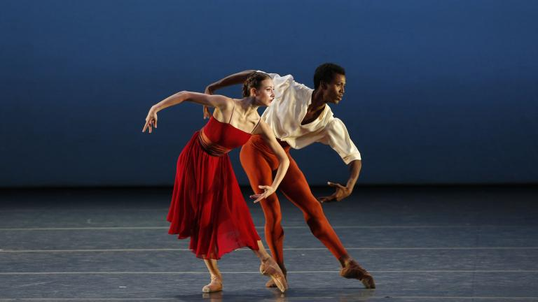 "Christine Shevchenko and Calvin Royal III in ""Songs of Bukovina."" (Credit: Marty Sohl)"