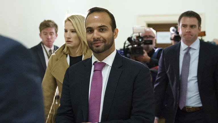 George Papadopoulos, the former Trump campaign adviser who triggered the Russia investigation, arrives Oct. 25, 2018 for his first appearance before congressional investigators, on Capitol Hill in Washington. (Carolyn Kaster / AP File Photo)