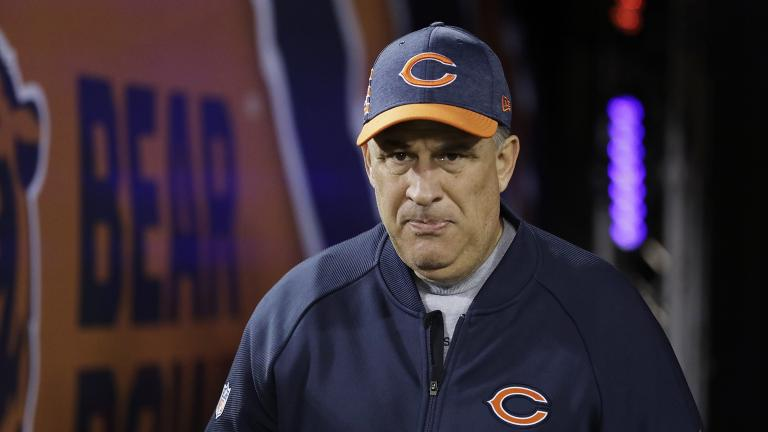 In this Dec. 9, 2018, file photo, Chicago Bears defensive coordinator Vic Fangio walks to the field before an NFL football game against the Los Angeles Rams, in Chicago. (AP Photo / Nam Y. Huh, File)