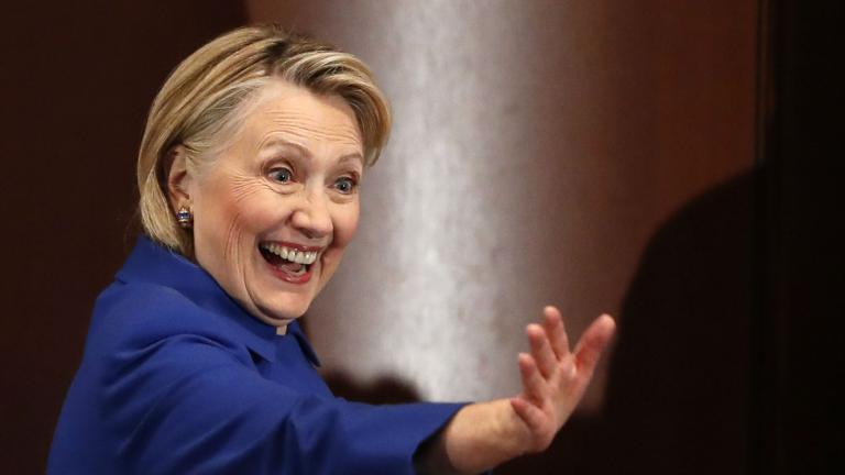 In this Monday, Jan. 7, 2019, file photo, former Secretary of State Hillary Clinton waves to well-wishers following an appearance at Barnard College with New York Gov. Andrew Cuomo, in New York. (AP Photo / Kathy Willens, File)
