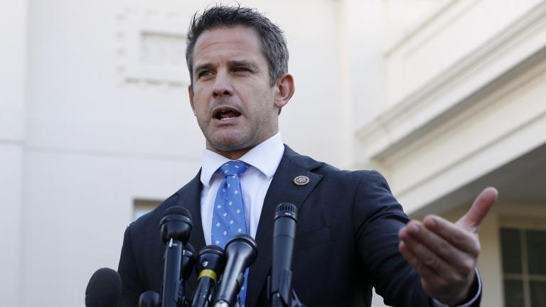 Rep. Adam Kinzinger, R-Ill., speaks to the media on Wednesday, March 6, 2019, at the White House in Washington. (AP Photo / Jacquelyn Martin)
