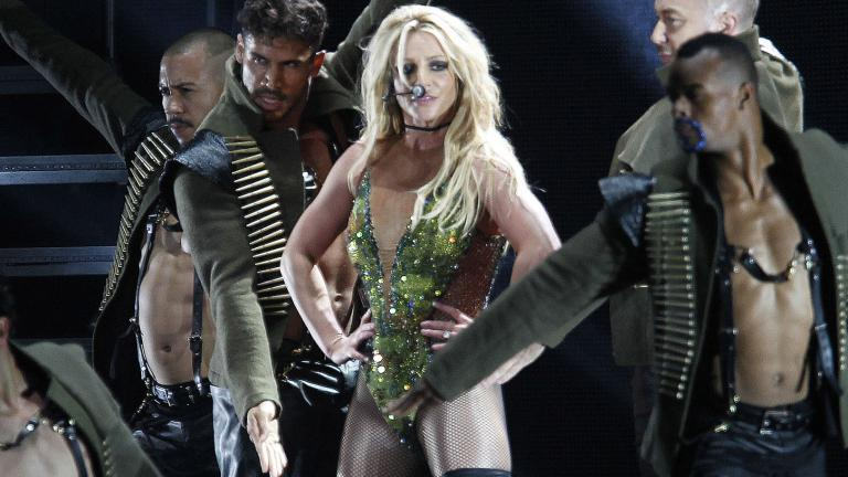 In this June 13, 2017, file photo, U.S. singer Britney Spears performs during her concert in Taipei, Taiwan. (AP Photo / Chiang Ying-ying, File)