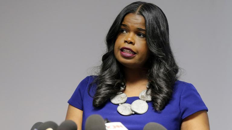 This Feb. 22, 2019 file photo shows Cook County State's Attorney Kim Foxx speaking at a news conference in Chicago. (AP Photo / Kiichiro Sato, File)