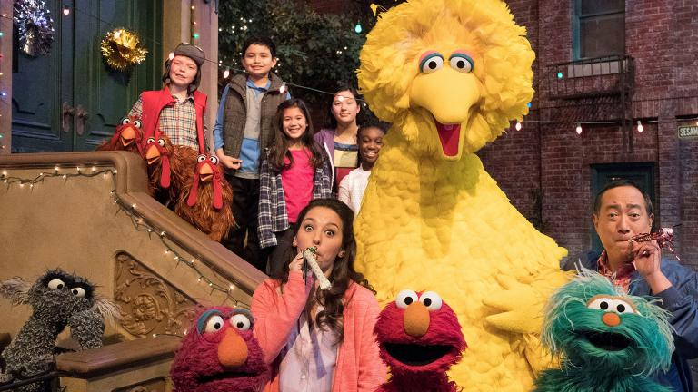 "This image released by HBO shows the cast of the popular children's show ""Sesame Street."" (HBO via AP)"